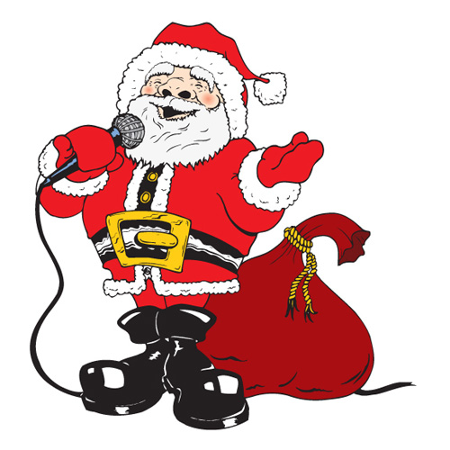 Image result for santa karaoke